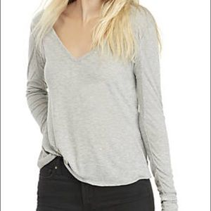 NWT Free People Rock the Boat Gray Tee